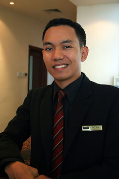 a hotel manager